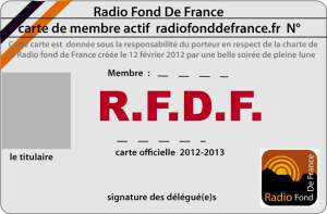 Carte Radio Fond de France